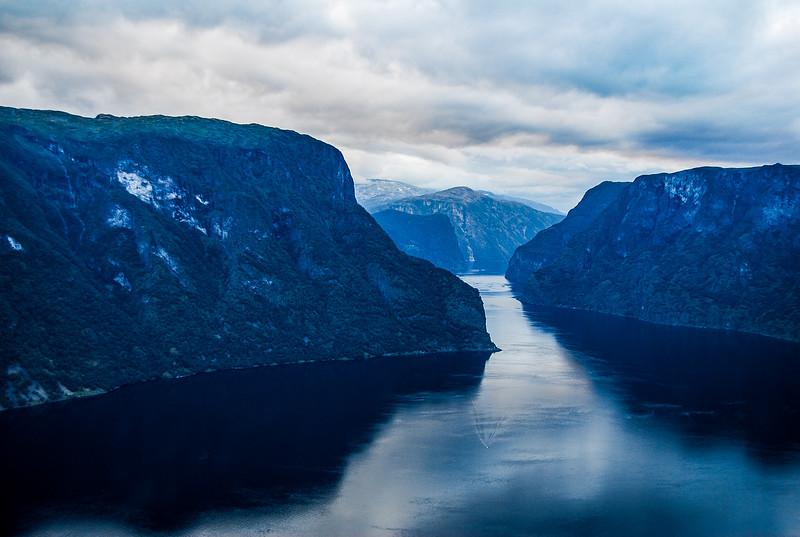 Dusk at Aurlandsfjord, Norway