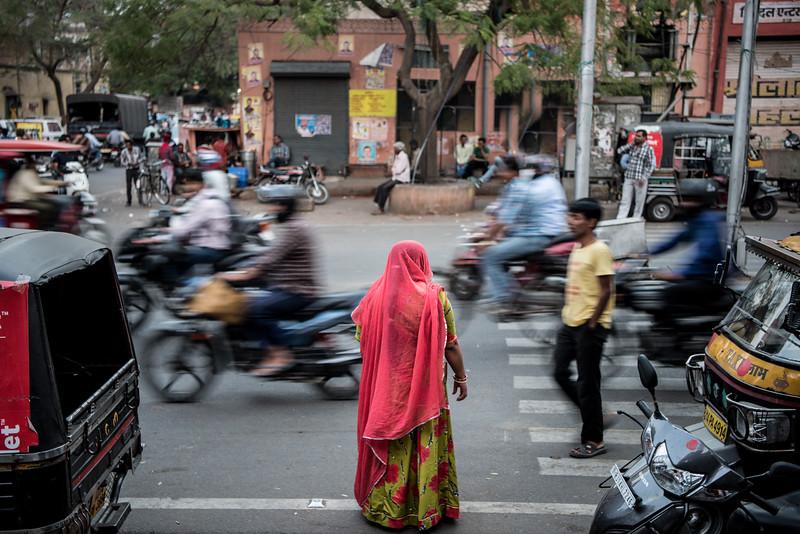 Portrait of a Pedestrian in Jaipur