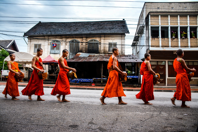 Procession in Luang Prabang