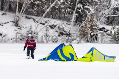 Mont-Tremblant, QC, Canada  - January 17 2021:  Lac Tremblant Kite   Photo by:  Gary Yee (garyphoto.ca)