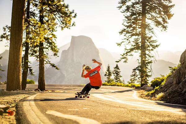 Skating under a Yosemite Sunrise