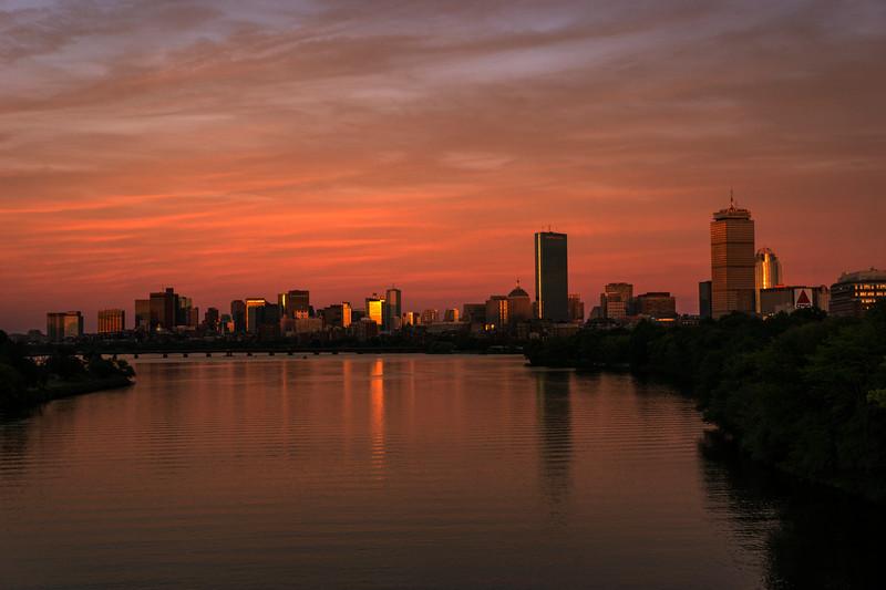 Boston Sunset Cityscape