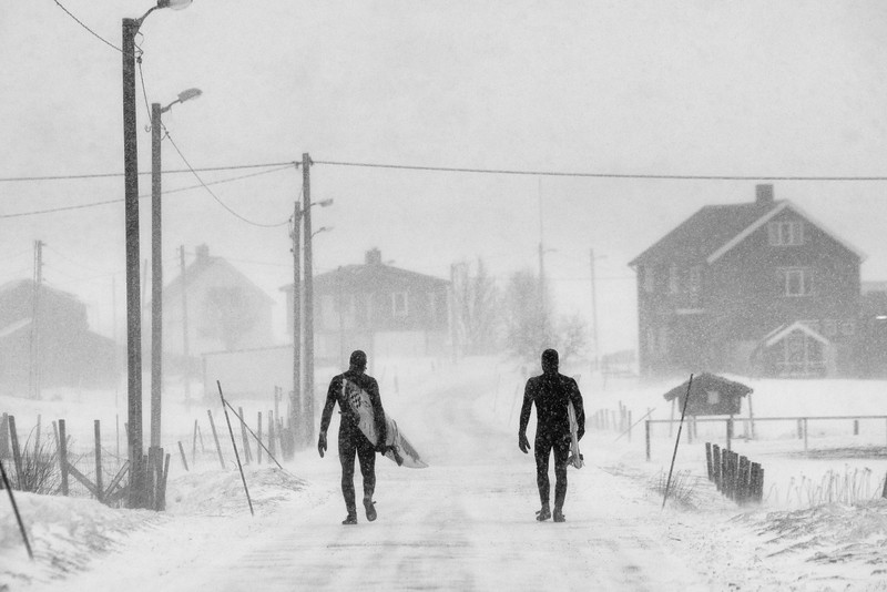 Keith Malloy and Dane Gudausakas walk home