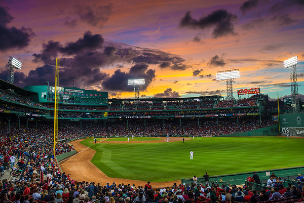 September Skies Over Fenway Park