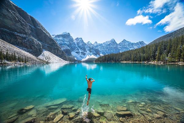 Polar plunge in Alberta