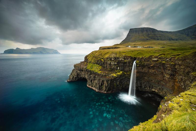 Faroe Islands  Waterfall
