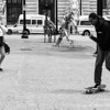 Skateboarder on Kennedy Plaza