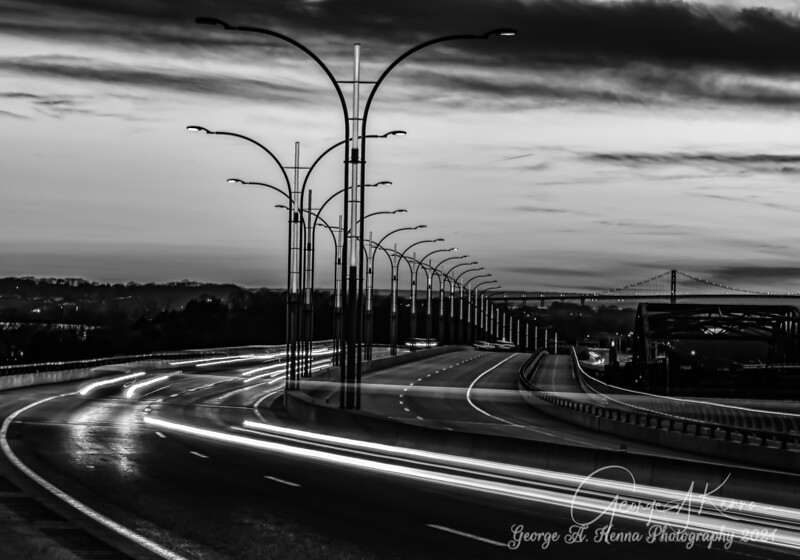 Sakonnet Bridge in Black and White