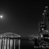 Full moon over the IWAY Bridge