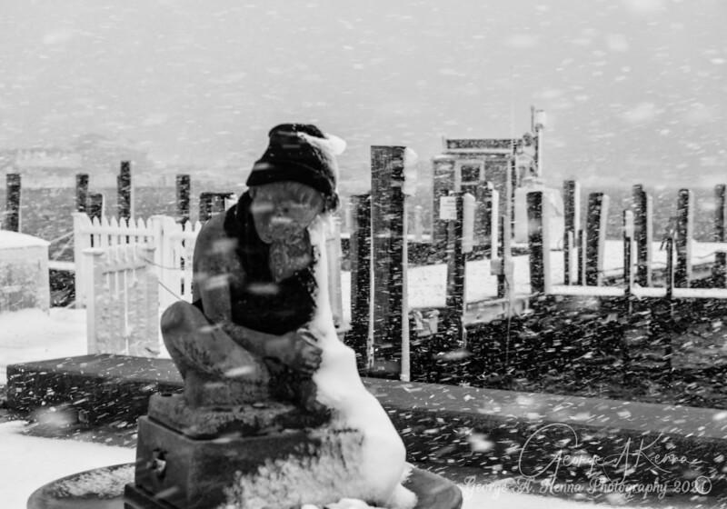 A snowy day in Watch Hill