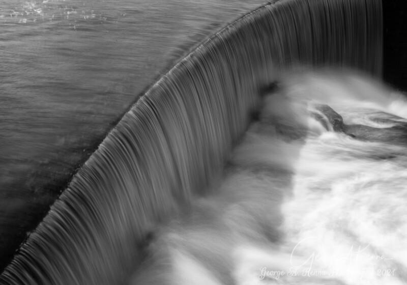 Black and White Ponagansett Falls
