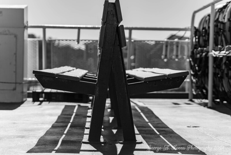 Seat on the Block Island Ferry