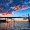 The Mount Hope Bridge at sunset