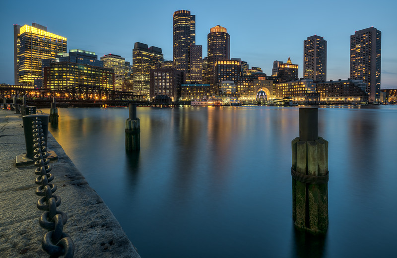 Financial District & the Waterfront from Fan Pier Park, Seaport