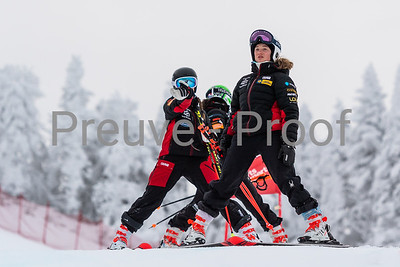 Mont-Tremblant, QC, Canada - December 21 2019:   Super Serie GS Femme at Tremblant  Photo par:  Gary Yee