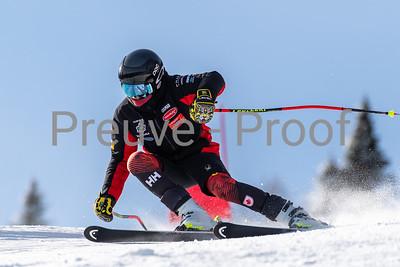 Mont-Tremblant, QC, Canada - January 30 2020:   Camp De Vitesse Club De Ski on Jasey Jay Anderson at Tremblant  Photo par:  Gary Yee