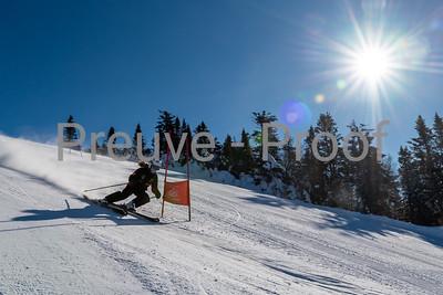 Mont-Tremblant, QC, Canada  - February 11 2021:  Club De Ski Mont-Tremblant trains on Kandahar  Photo by:  Gary Yee (garyphoto.ca)