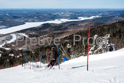 Mont-Tremblant, QC, Canada  - February 13 2021:  Club De Ski Mont-Tremblant FIS athletes train on Kandahar  Photo by:  Gary Yee (garyphoto.ca)