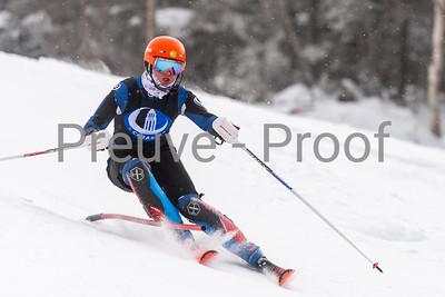 Mont-Tremblant, QC, Canada  - February 14 2021:  Club De Ski Mont-Tremblant FIS athletes training on Kandahar  Photo by:  Gary Yee (garyphoto.ca)