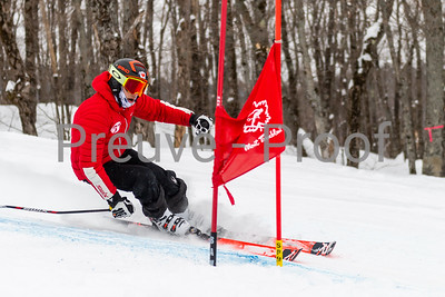 Mont-Tremblant, QC, Canada  - February 20 2021:  Club De Ski Mont-Tremblant GS training in Flying Mile  Photo by:  Gary Yee (garyphoto.ca)
