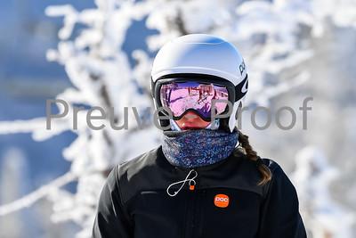 Mont-Tremblant, QC, Canada  - February 26 2021:  Club De Ski Mont-Tremblant GS  training in Kandahar  Photo by:  Gary Yee (garyphoto.ca)