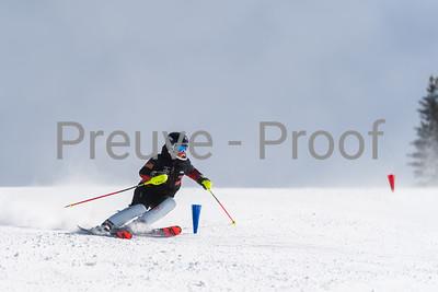 Mont-Tremblant, QC, Canada  - March 4 2021:  Club De Ski Mont-Tremblant training on Kandahar  Photo by:  Gary Yee (garyphoto.ca)