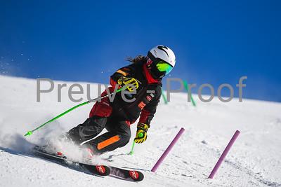 Mont-Tremblant, QC, Canada  - March 7 2021:  Club De Ski Mont-Tremblant trains on Kandahar  Photo by:  Gary Yee (garyphoto.ca)