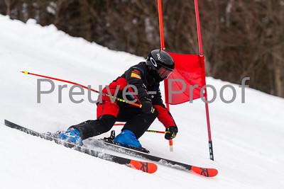 Mont-Tremblant, QC, Canada  - March 9 2021:  Club De Ski Mont-Tremblant training on Rigodon  Photo by:  Gary Yee (garyphoto.ca)
