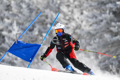 Mont-Tremblant, QC, Canada  - March 13 2021:  Club De Ski Mont-Tremblant trains on Erik Guay  Photo by:  Gary Yee (garyphoto.ca)