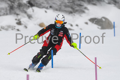 Mont-Tremblant, QC, Canada  - March 14 2021:  Club De Ski Mont-Tremblant trains SL on Erik Guay  Photo by:  Gary Yee (garyphoto.ca)