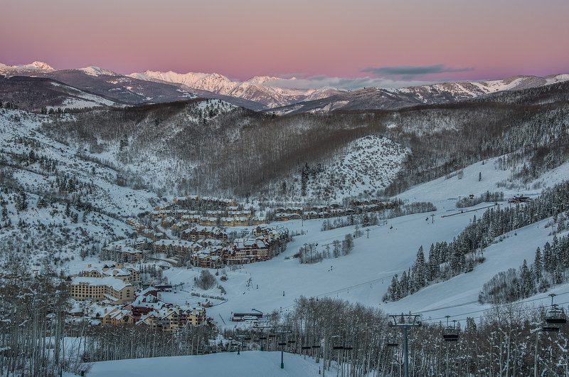 Beaver Creek Village & the Gore Range