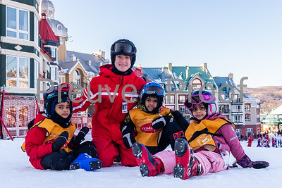 Mont-Tremblant, QC, Canada - December 24 2019:   Ecole Sur Neige at Tremblant  Photo par:  Gary Yee