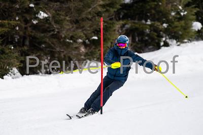 Mont-Tremblant, QC, Canada - February 22 2020:   Club Des Maitres SL at Tremblant  Photo par:  Gary Yee