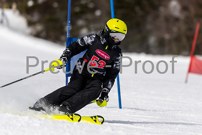 Mont-Tremblant, QC, Canada - March 8 2020:   Haute Performance GS on JJ Anderson at Tremblant  Photo par:  Gary Yee