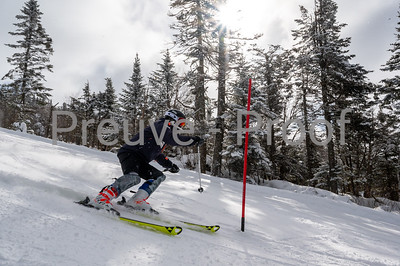 Mont-Tremblant, QC, Canada  - February 20 2021:  100% Course SL  training in Alpine  Photo by:  Gary Yee (garyphoto.ca)