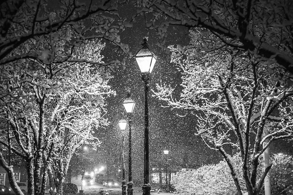 Market House Snowy Lights II