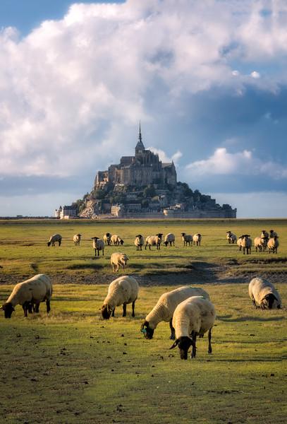 The guardians of the mount Saint-Michel