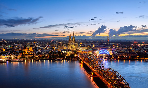 The lights of Cologne