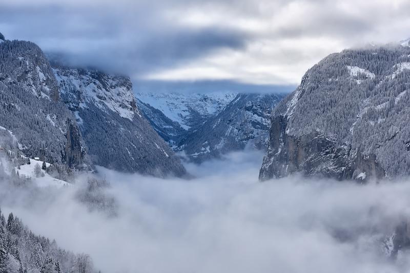 In between clouds || Lauterbrunnen - Switzerland