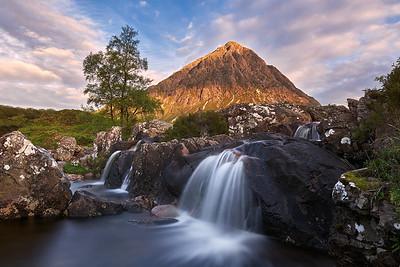 The Famous Etive Mòr Waterfall    Scotland