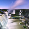 Moonlight rainbow at the Iguazu Falls