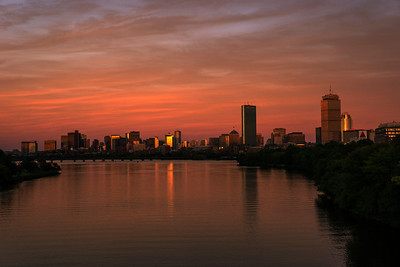 Boston Sunset Cityscape