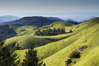 Colorful view this afternoon from Mt. Tamalpais State Park #Marin