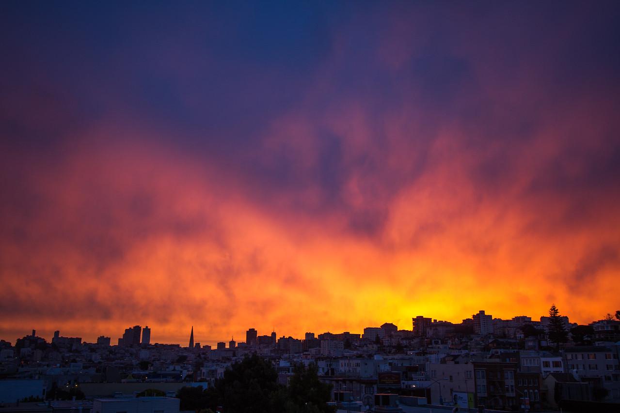 Stormy Sky Sunrise - San Francisco, CA