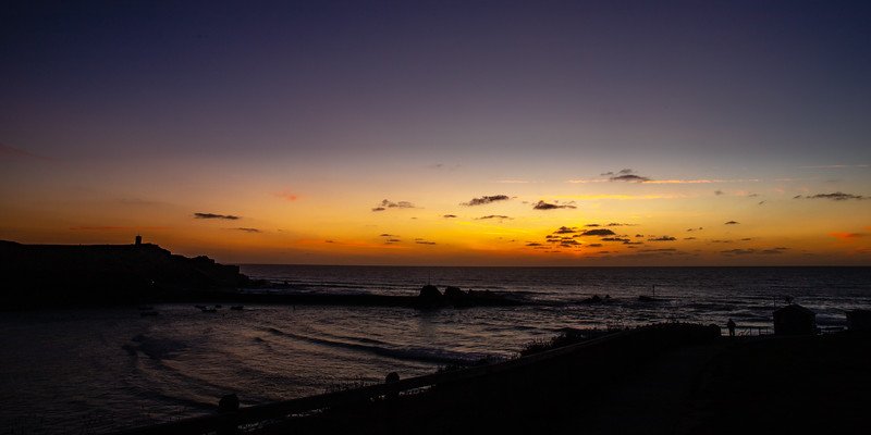 Sundown over Bude