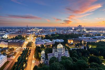Riga sunset
