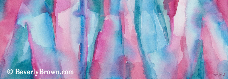 Teal Pink Turquoise Abstract Painting - Beverly Brown Art Prints
