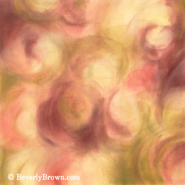 Rose, Pink, Green Abstract Floral Art - Beverly Brown Prints