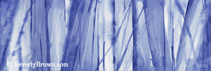 Blue and White Abstract Painting - Beverly Brown Art Prints
