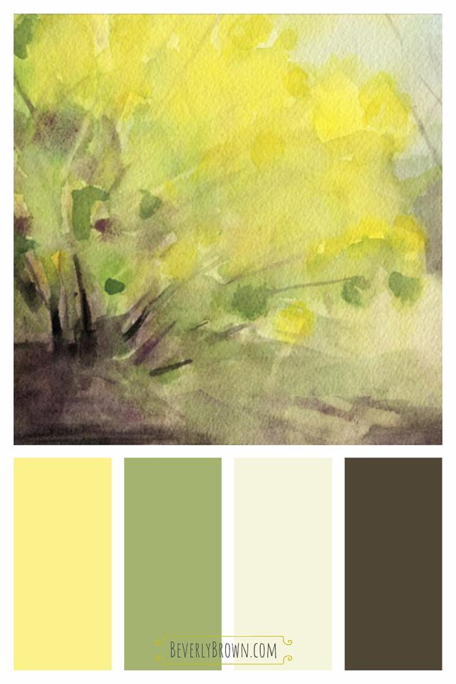 Yellow Green & Neutral Color Scheme for Home Decor